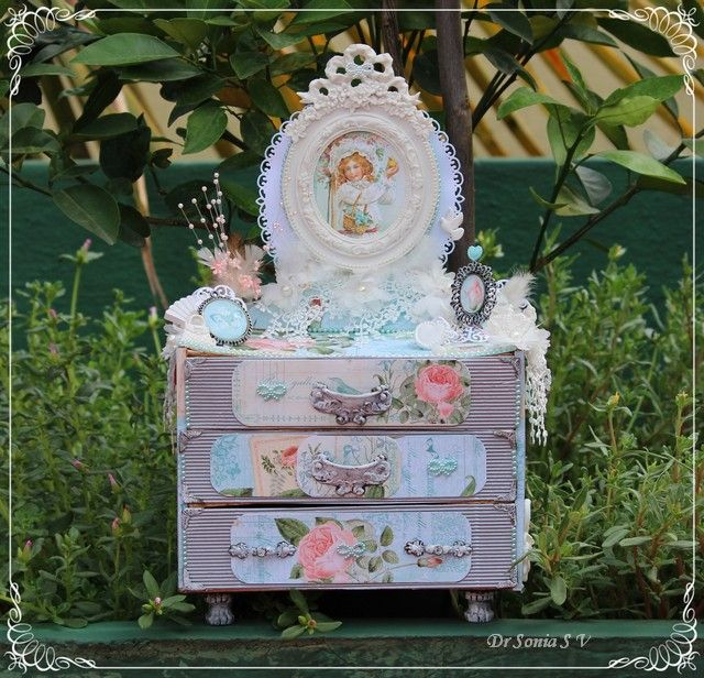 Cards ,Crafts ,Kids Projects: Handmade Shabby Chic Dresser