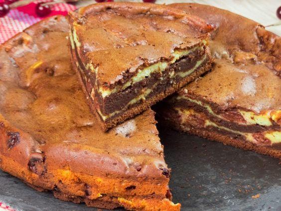 O superbă prăjitură – brownie cu vișină
