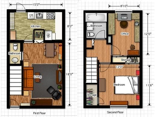 73 best floor plans-under 1000 square feet images on pinterest