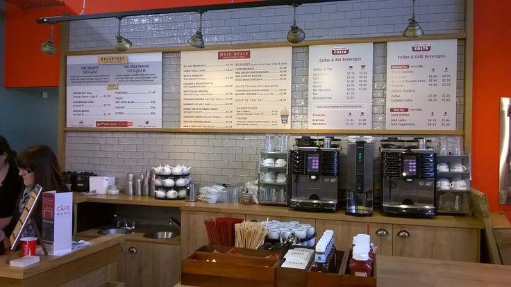 Tesco Cafe Rebrand  menu boards Tesco Cafe menuboards