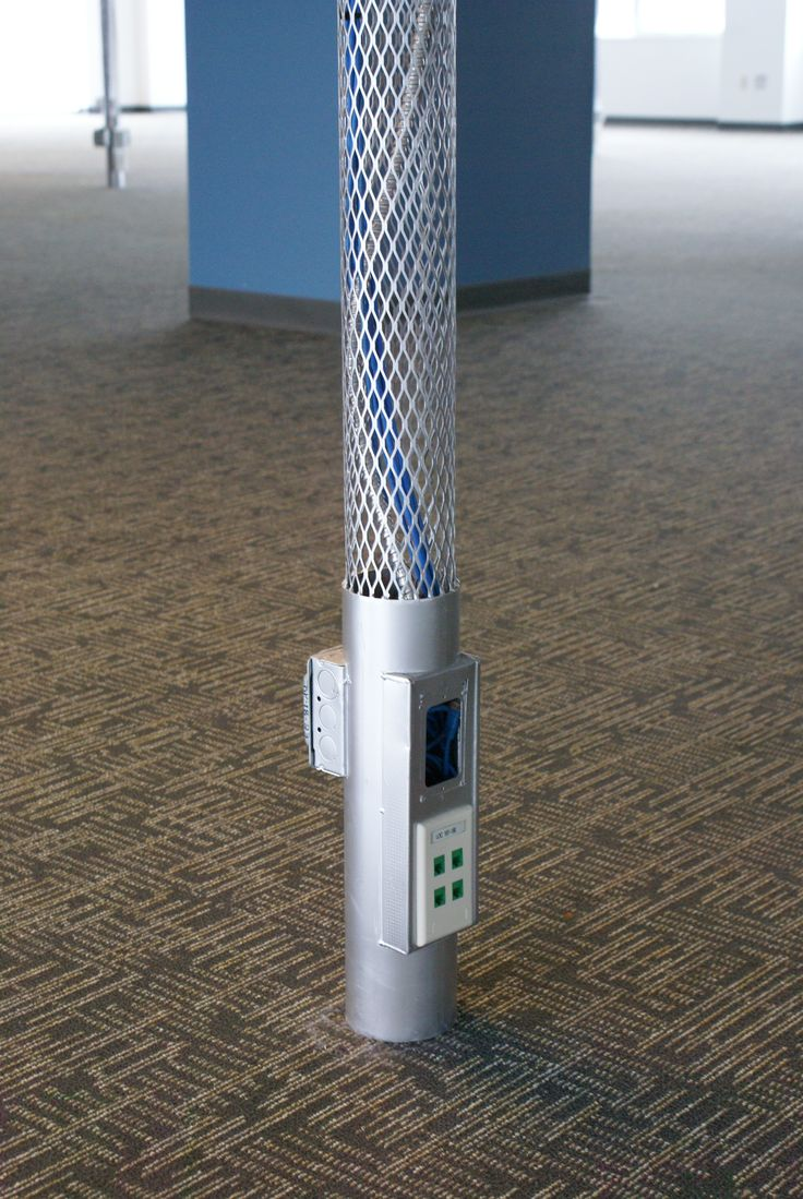 Power And Data Poles For Commercial Offices Commercial