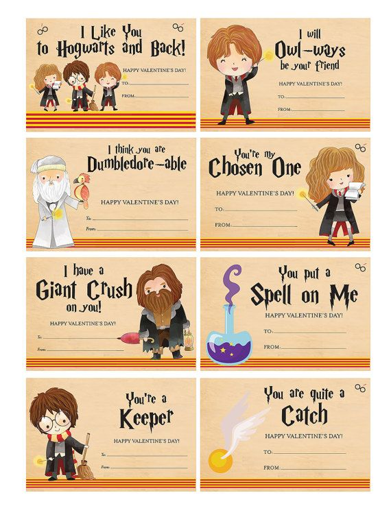 Need fun Harry Potter themed Valentines for you or your kiddo? Look no further, these are the ONES for you! This listing is for a personalized Harry Potter Valentine pdf file. Each 8.5 x 11 sheet you print will have 8 valentines. Just cut and you are ready to go! You may print as many copies as you need for your own PERSONAL use. You may not distribute the electronic file or resell.  As a bonus, any quantity you order will include 1 Teacher Valentine. The Teacher Valentine will be sized at…