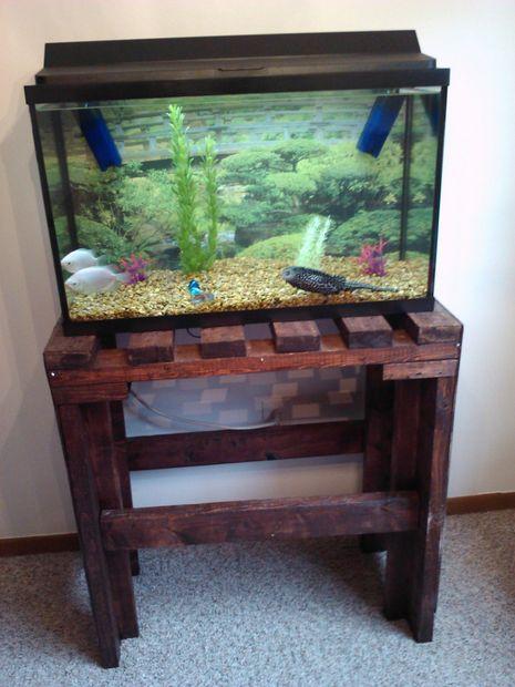 7 best fish tank stands images on pinterest aquarium for Pallet aquarium stand