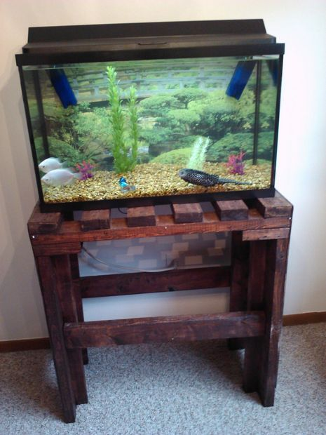 Diy aquarium stand woodworking projects plans for Fish tank stand plans