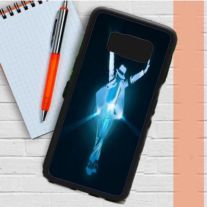 Michael Jackson Blue Vector Samsung Galaxy S8 Plus Case Dewantary