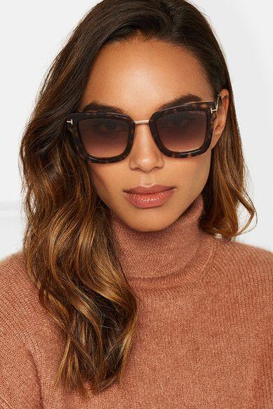 f52fd942cd TOM FORD Square-frame tortoiseshell acetate lovely sunglasses