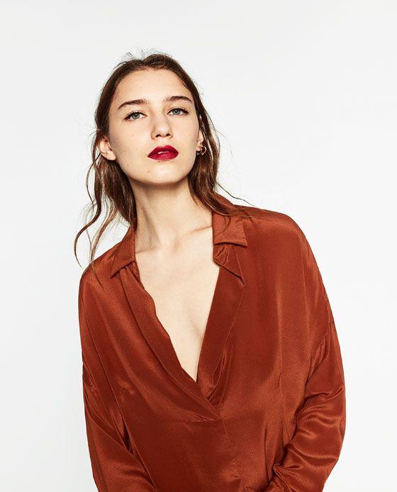 SILK BLOUSE from Zara