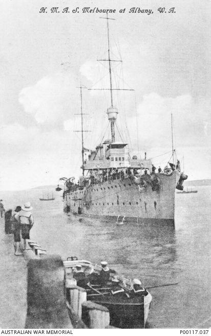 ALBANY, WESTERN AUSTRALIA, 1914-1918 WAR. HMAS MELBOURNE. [P00117.037 | Australian War Memorial]