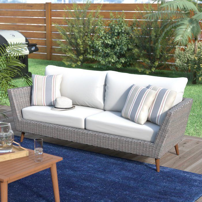 Newbury Patio Sofa With Cushions Replacement Patio Cushions