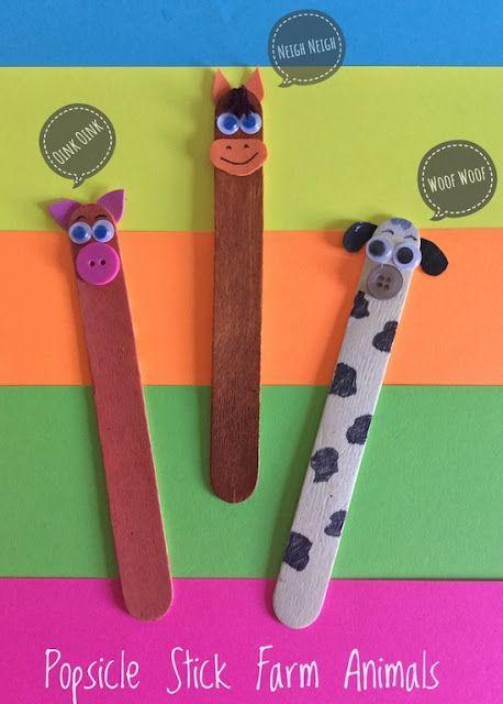 Farm Animals Puppet Craft Easy Craft Ideas Animal Crafts For
