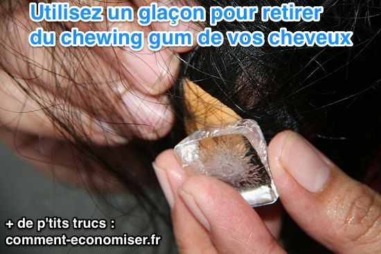 enlever chewing gum