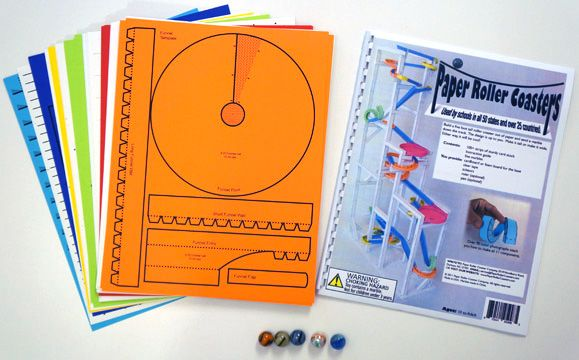 Paper roller coaster templates
