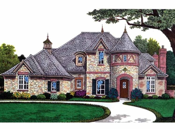 nice french european house plans #6: Eplans French Country House Plan - Timeless European Appeal - 3437 Square  Feet and 4 Bedrooms from Eplans - House Plan Code {Great reading nook}