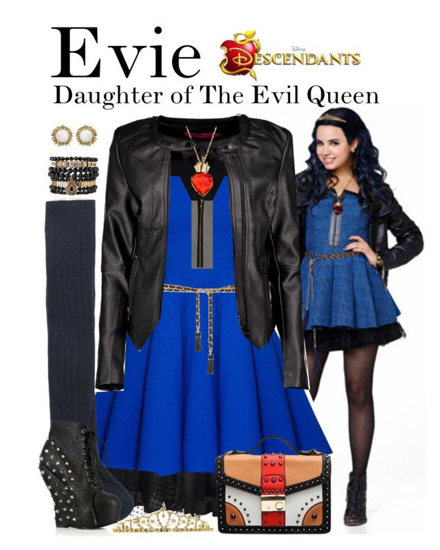 """Evie, Descendants"" by supercalifragilistica ❤ liked on Polyvore featuring мода, Disney, Boohoo, Unique Vintage, Miu Miu, Zara, Chicwish, Samantha Wills, MANGO и Bettie Page"