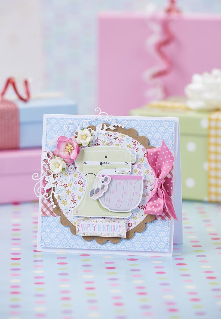 This sweet card is perfect for keen bakers!