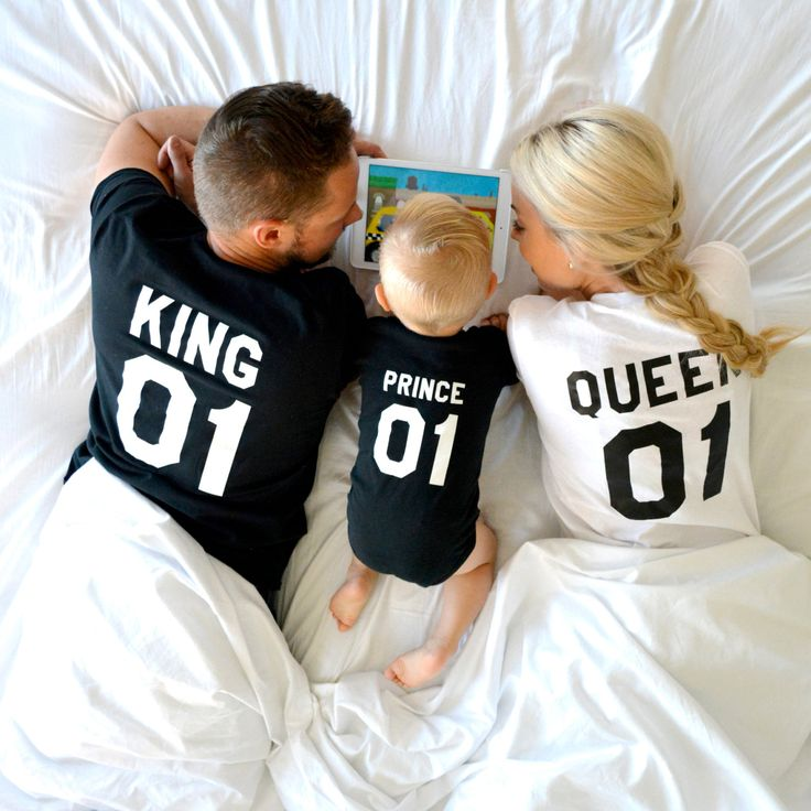 King Queen Prince, Matching Family Shirts. The kids love them. The parents adore them. You deserve nothing less than these cool matching shirts! Get now!