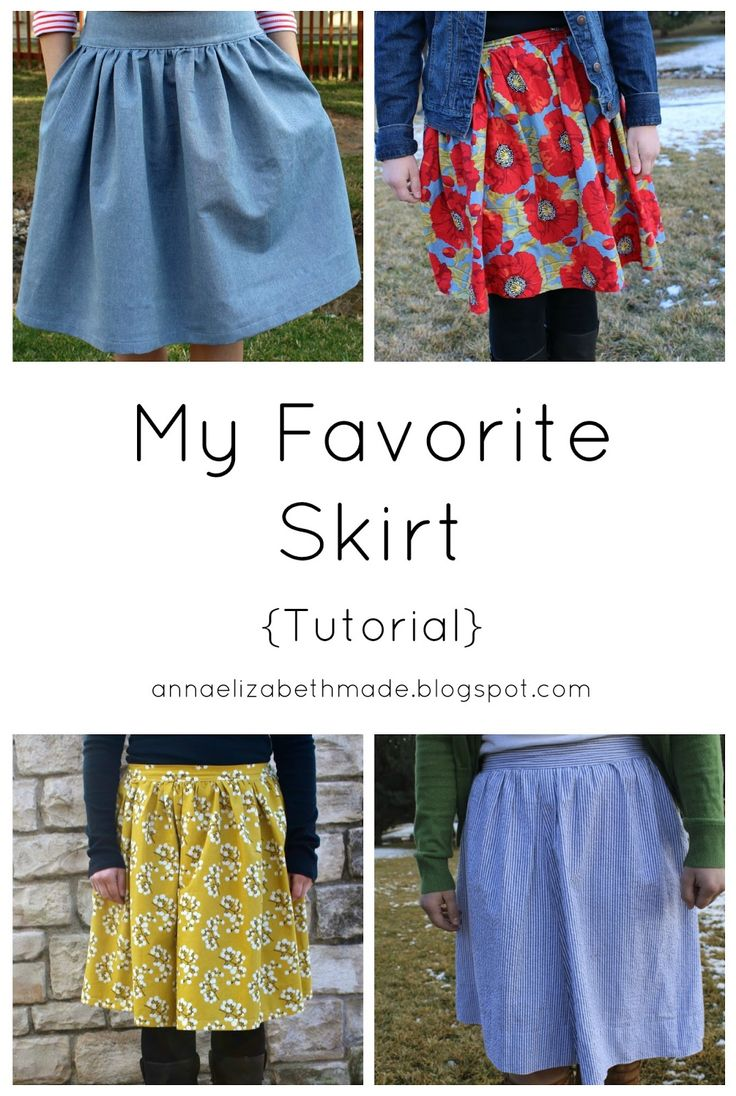 Anna Elizabeth Made: My Favorite Skirt {Tutorial}. This has elastic in back, front gathered as much as you like, draft to your size.