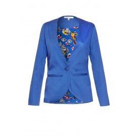 Collarless Blazer Jacket