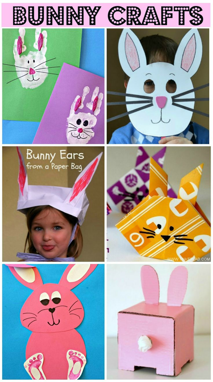 Bunny Crafts for Kids to make! #Easter art projects #Rabbit crafts | CraftyMorning.com