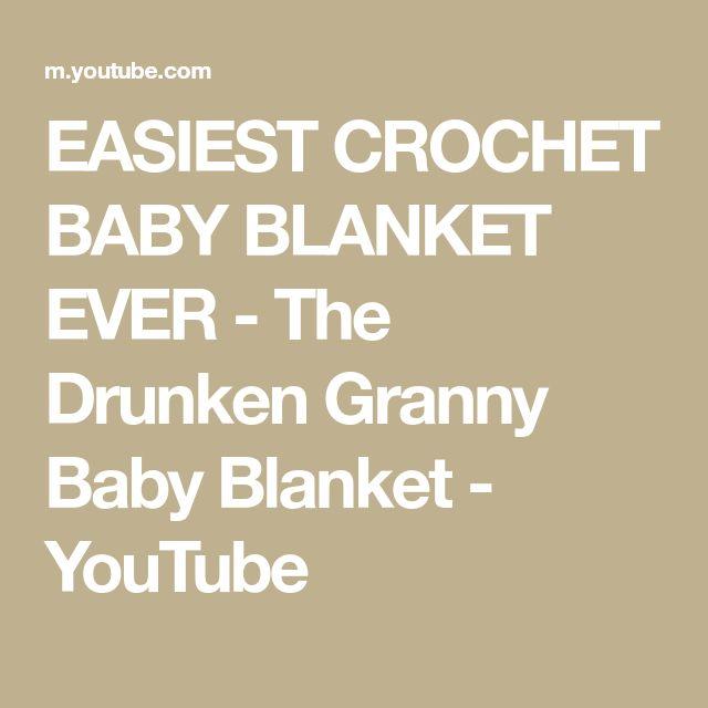 260ef33db9 EASIEST CROCHET BABY BLANKET EVER - The Drunken Granny Baby Blanket -  YouTube