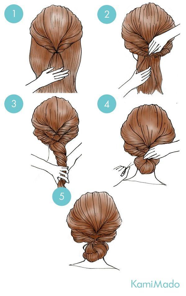 Tutorial de penteado fácil no estilo princesa.