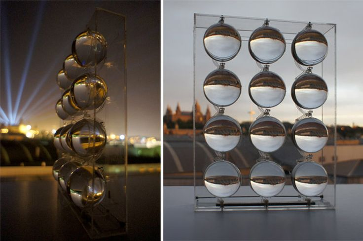 spherical glass solar energy generator by rawlemon