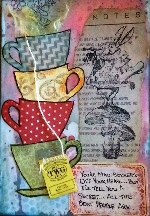 Barbs Mey The Craftroom Mixed Media Collage Oxide Ink Blended Background