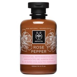 ROSE PEPPER Shower Gel with Essential Oils with rose & black pepper. #Dirt Removal #Rejuvenation  #Hydration Shower gel enriched with essential oils which rejuvenate both skin and mood, while cleansing effectively and leaving the skin soft and hydrated. Read more at www.apivita.com