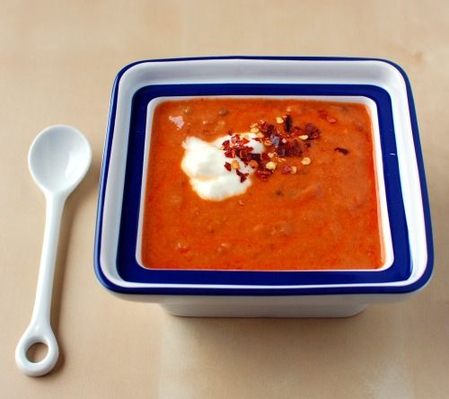 African Peanut Soup.  Doesn't seem like tomato and peanut butter go together, but they do and it's splendid!
