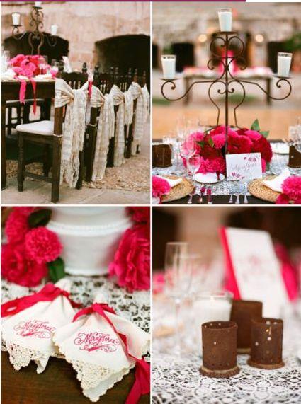 Si quieres destacar un estilo muy nacionalista o charro en tu boda, la tendencia en decoración de boda en rosa mexicano te ayudará a conseguirlo de inmediato.