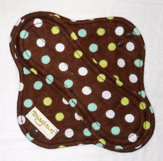 If you want to take GREEN all the way...Custom pad  Leakproof 8inch Cloth Menstrual Pad cotton by Sugirons, $7.50