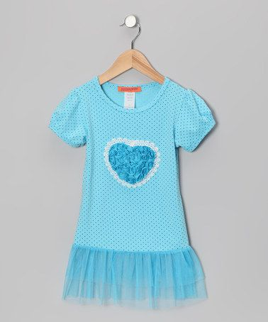 Take a look at this Blue Heart Tutu Tunic - Toddler by Funkyberry on #zulily today!