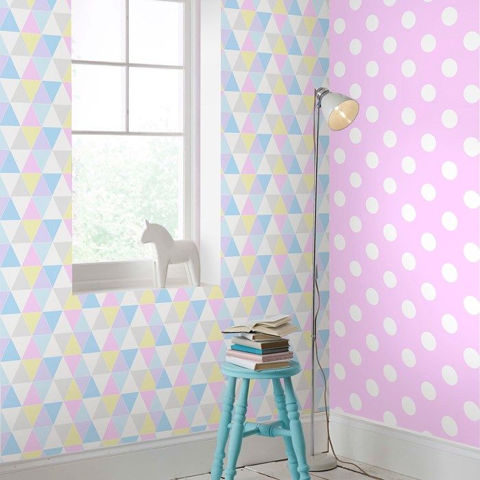 Harlequin Pastels Wallpaper by Graham and Brown