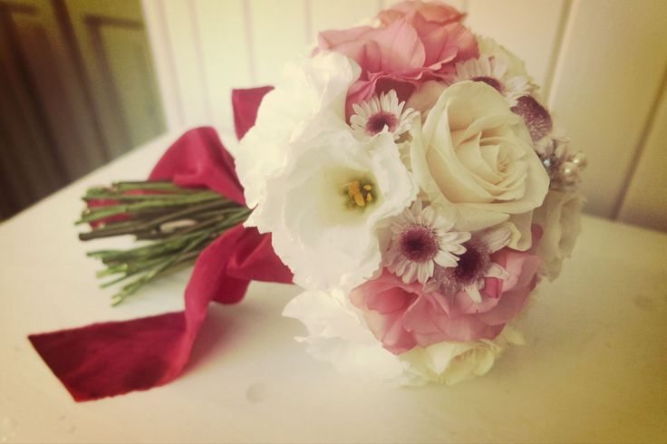 fuxia y rosa, wedding bouquet