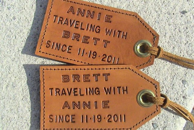 By the third year, you might have amassed an impressive collection of passport stamps—or logged a ton of road miles—as a family. Honor your adventures together with personalized leather luggage tags. ($40 for a set of two, leathermadenice.etsy.com)   - CountryLiving.com
