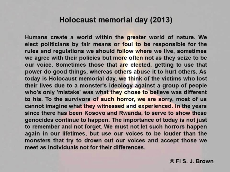 Holocaust Remembrance Day Quotes - 0425