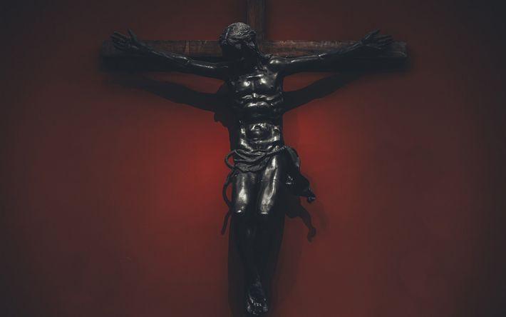 Download wallpapers Cross, The Crucifixion of Jesus Christ, Christianity, Religion, Jesus Christ, Jesus of Nazareth