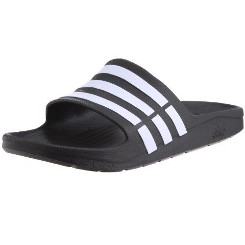 From 14.56:Adidas Duramo Slide Mens Open Toe Sandals Black (black/white/black) 9 Uk (43  Eu) | Shopods.com