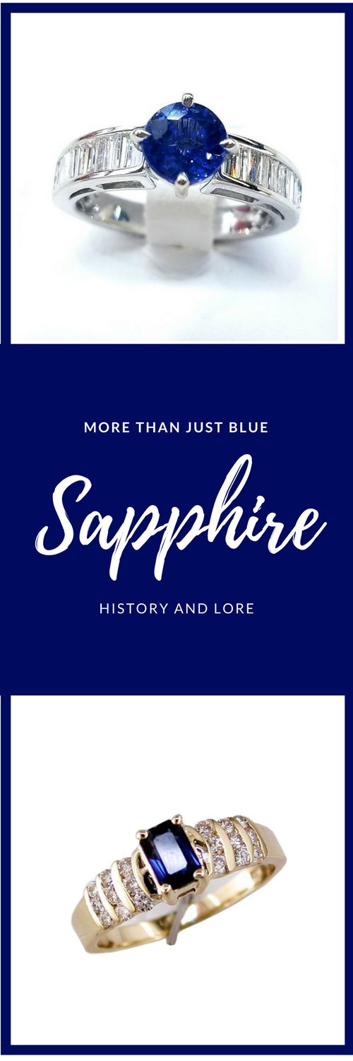 Sapphire and it's sorted past, history and lore. Long used by royalty, sapphire is believed to be a symbol of loyalty. #sapphire #gemology
