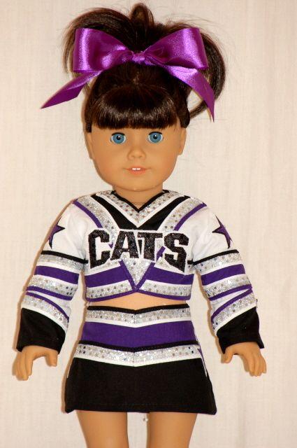 Just2Cute - Custom cheerleading uniforms for American Girl dolls