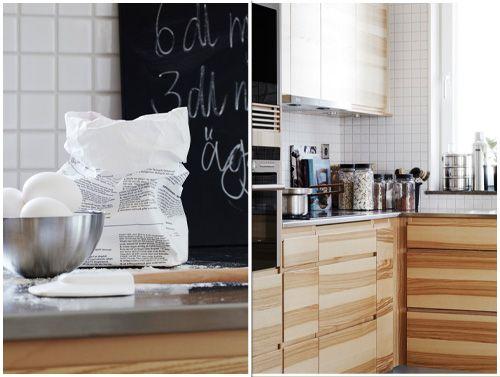 Hitta hem | Vedum kök LIV ask, rostfri diskbänkplåt och blankt vit mosaik 5x5cm | Annedal 2012