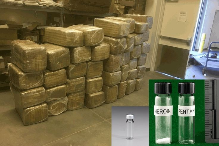 Lethal doses of Heroin Fentanyl Marijuana and Botulinum Toxin side by side.