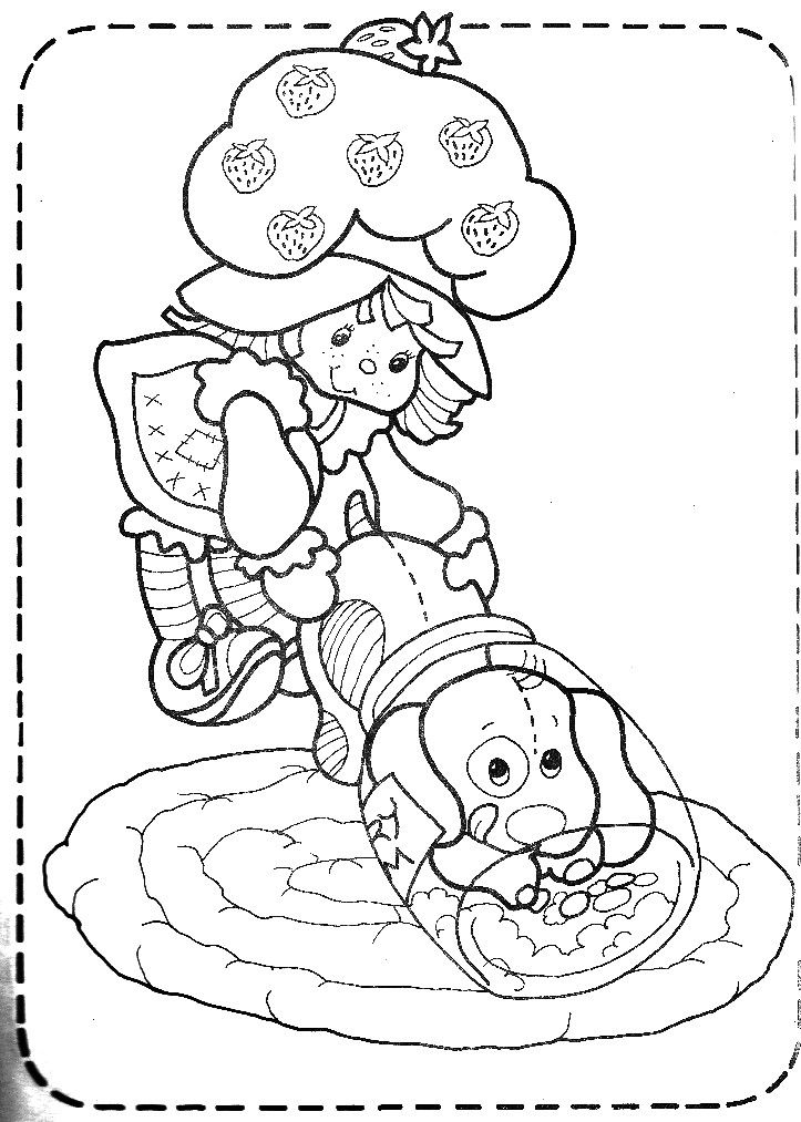 christmas strawberry shortcake coloring pages-#14