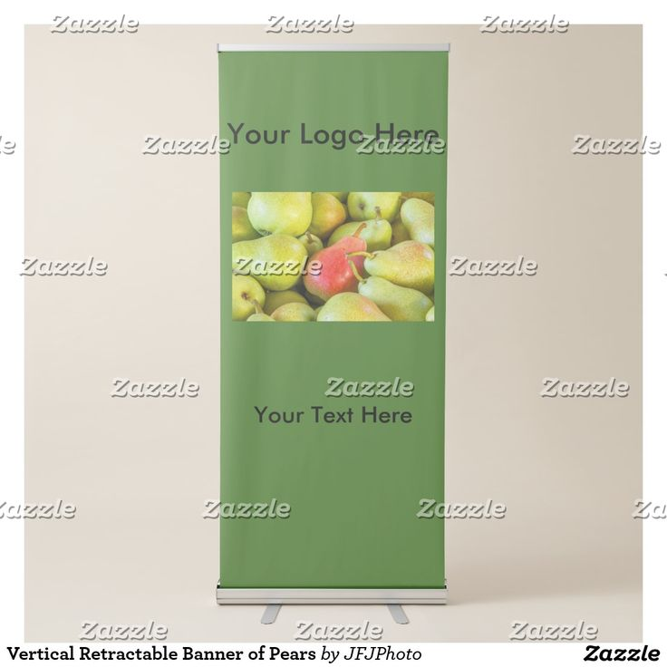 Vertical Retractable Banner of Pears