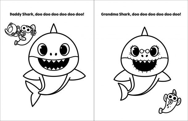 You Can Get A Baby Shark Coloring Book So Your Kids Can ...