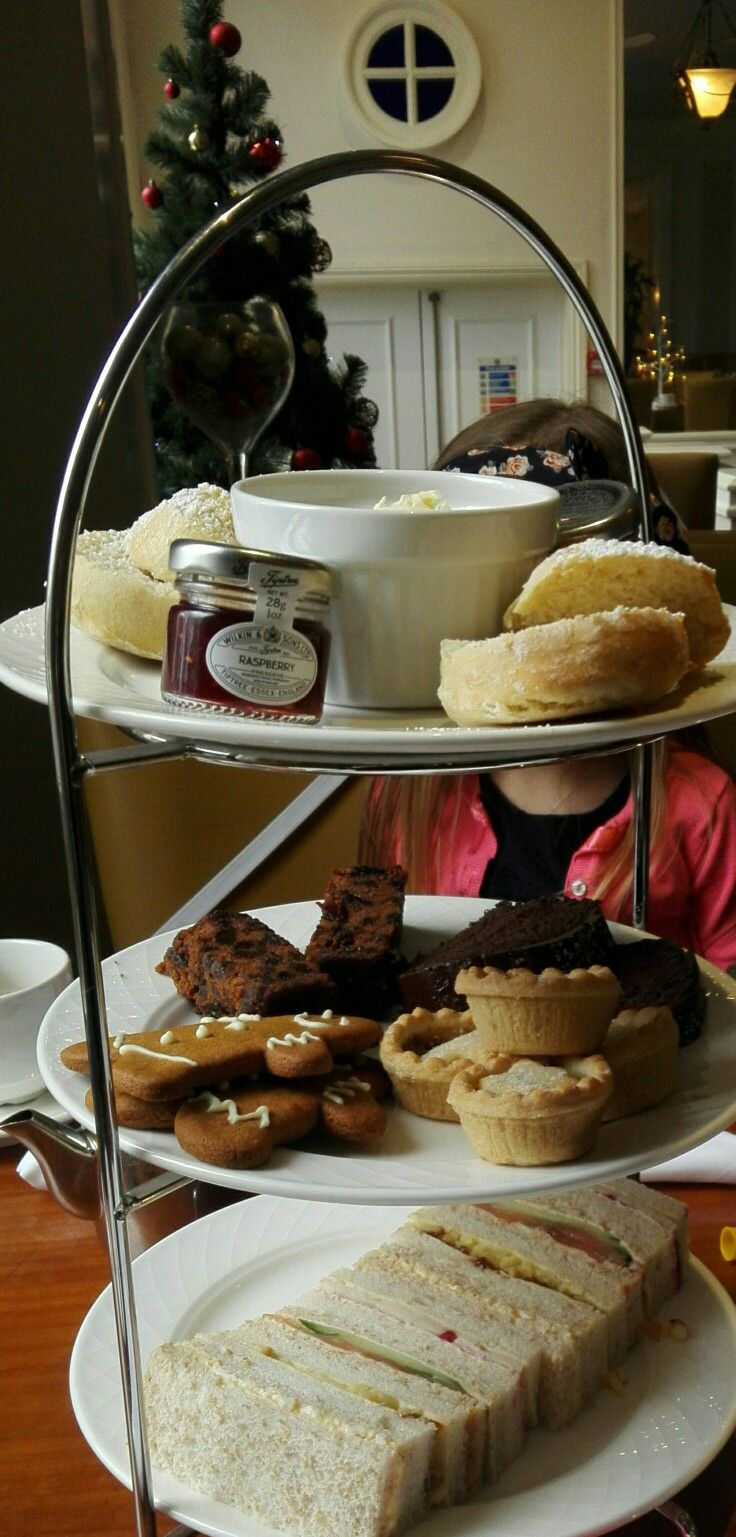 Afternoon tea at Angel Hotel Cardiff in December.