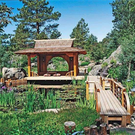 ideen wassergarten perfekte gestaltung tee haus