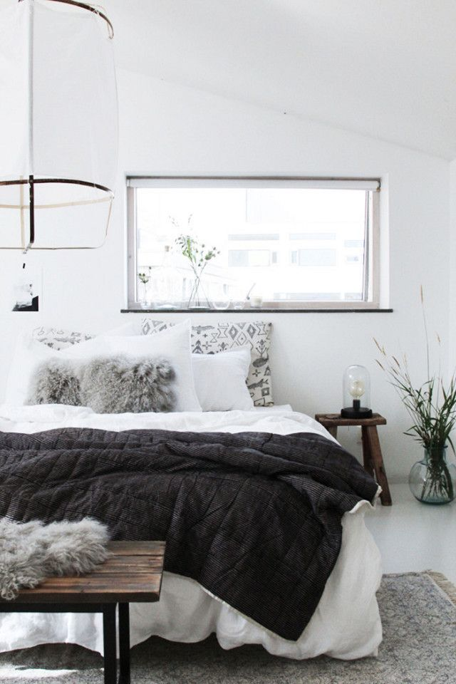 Interior White Comforter Bedroom Design Ideas best 25 white bedding ideas on pinterest fluffy cozy scandinavian bedroom with a lantern above the bed cut out window