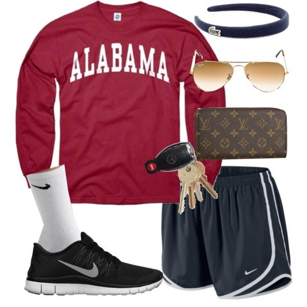 """Alabama Day 3"" by alexkay98 on Polyvore cheap nike free 5.0 only $47, save up to 62% off"