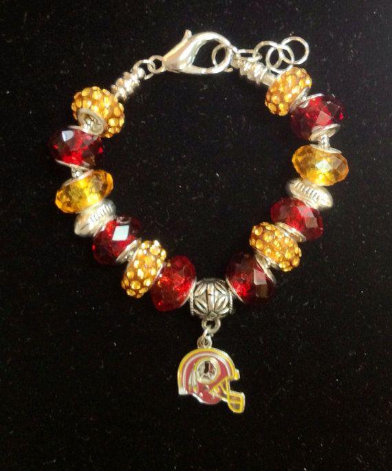 Washington Redskins Bracelet on Etsy, $35.00